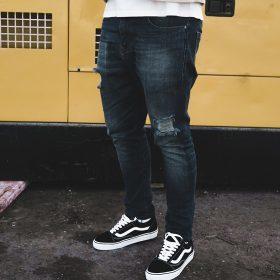 Zwężane jeansy męskie