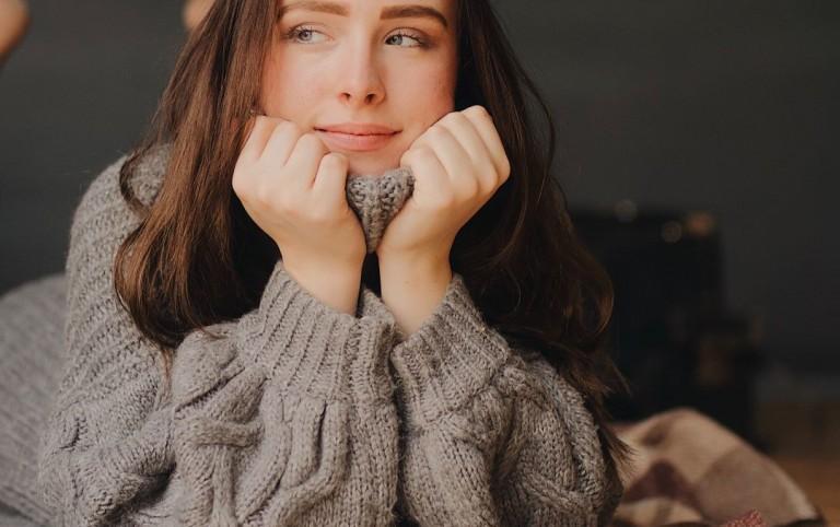 Ciepły wełniany sweter