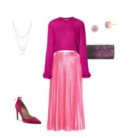 Świąteczne stylizacje z plisowaną spódnicą