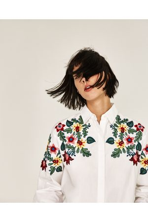 Kobieta Koszule - Zara KOSZULA OVERSIZE W KWIATY