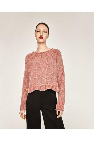 Kobieta Swetry i Pulowery - Zara KRÓTKI SWETER Z PÓŁOKRĄGŁYM DEKOLTEM - Dostępny w innych kolorach