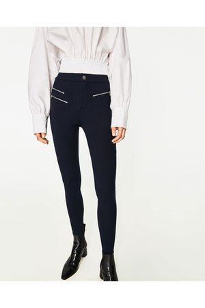 zara spodnie damskie legginsy
