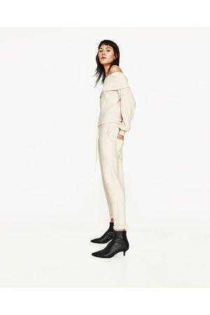 Kobieta Spodnie dresowe - Zara SPODNIE JOGGERY Z WIĄZANIEM - Dostępny w innych kolorach
