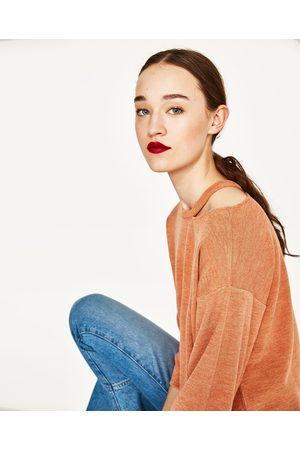 Kobieta Swetry i Pulowery - Zara SWETER Z WYCIĘCIEM PRZY DEKOLCIE - Dostępny w innych kolorach