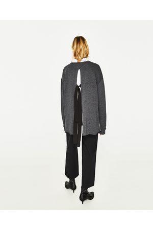 Kobieta Bluzy - Zara BLUZA O KRÓTSZYM KROJU Z TROCZKAMI