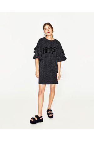 Kobieta Sukienki - Zara DRESS WITH FRILLED SLEEVES