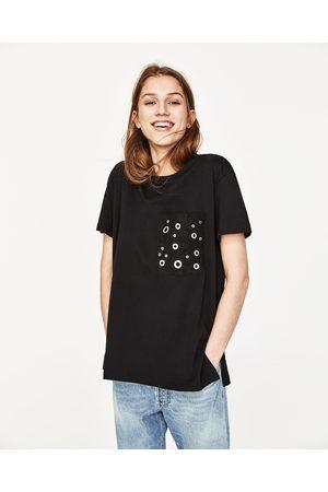 Kobieta T-shirty - Zara KOSZULKA Z KIESZENIĄ - Dostępny w innych kolorach
