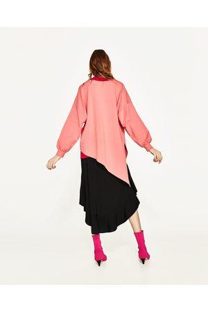 Kobieta Bluzy - Zara ASYMETRYCZNA BLUZA Z DZIANINY DRESOWEJ - Dostępny w innych kolorach