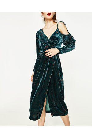 Kobieta Sukienki - Zara AKSAMITNA SUKIENKA