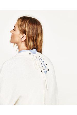 Kobieta Swetry i Pulowery - Zara SWETER OVERSIZE Z WIĄZANIEM NA PLECACH - Dostępny w innych kolorach