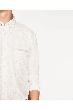 Mężczyzna Koszule - Zara KOSZULA W DUŻE KWIATY