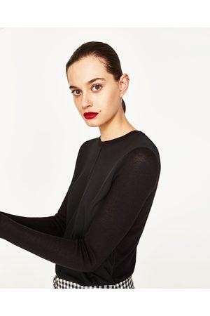 Kobieta Swetry i Pulowery - Zara SWETER Z PÓŁOKRĄGŁYM DEKOLTEM - Dostępny w innych kolorach