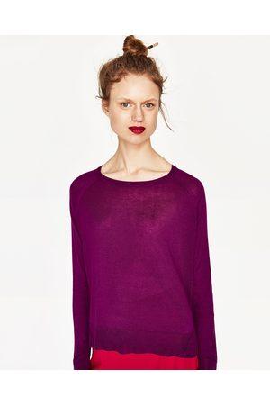 Kobieta Swetry i Pulowery - Zara SWETER Z ROZCIĘCIAMI PO BOKACH - Dostępny w innych kolorach