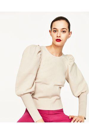 Kobieta Swetry i Pulowery - Zara SWETER Z SZEROKIM RĘKAWEM