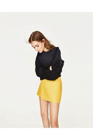 Kobieta Spódnice mini - Zara SPÓDNICA MINI ZE SZTUCZNEJ SKÓRY