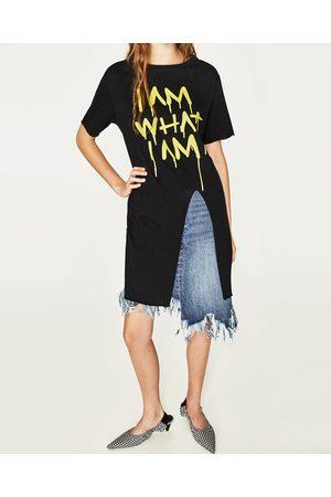 Kobieta T-shirty - Zara KOSZULKA Z WIĄZANIEM Z PRZODU - Dostępny w innych kolorach
