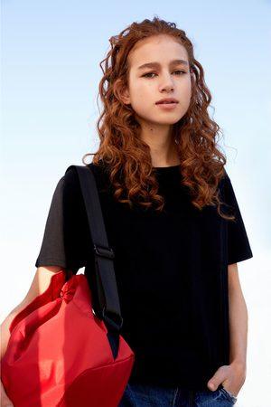 Kobieta T-shirty - Zara BAWEŁNIANA KOSZULKA Z KARCZKIEM Z TYŁU - Dostępny w innych kolorach
