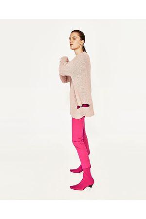 Kobieta Swetry i Pulowery - Zara SWETER Z ROZDARCIAMI - Dostępny w innych kolorach