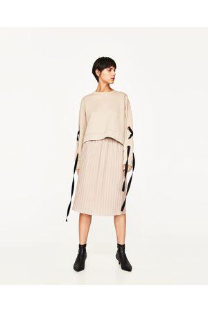 Kobieta Spódnice plisowane - Zara PLISOWANA SPÓDNICA ŚREDNIEJ DŁUGOŚCI