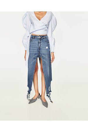 Kobieta Spódnice jeansowe - Zara SPÓDNICOSPODNIE JEANSOWE Z ROZCIĘCIAMI