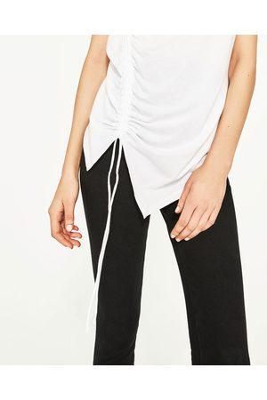 Kobieta T-shirty - Zara KOSZULKA Z MARSZCZENIEM Z PRZODU - Dostępny w innych kolorach