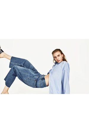 Kobieta Culottes - Zara SPODNIE JEANSOWE TYPU RECONSTRUCTED CULOTTE Z KOLEKCJI PREMIUM