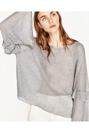 Kobieta Swetry i Pulowery - Zara SEQUINNED SWEATER - Dostępny w innych kolorach
