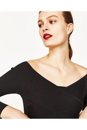 Kobieta Swetry i Pulowery - Zara SWETER O KRÓTSZYM KROJU Z DRAPOWANIEM - Dostępny w innych kolorach