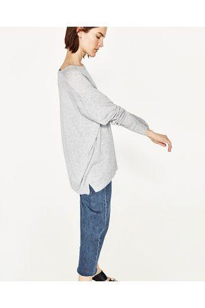 Kobieta Swetry i Pulowery - Zara SWETER OVERSIZE Z DEKOLTEM W ŁÓDKĘ - Dostępny w innych kolorach