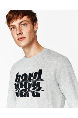 Mężczyzna Bluzy - Zara BLUZA Z NAPISEM - Dostępny w innych kolorach