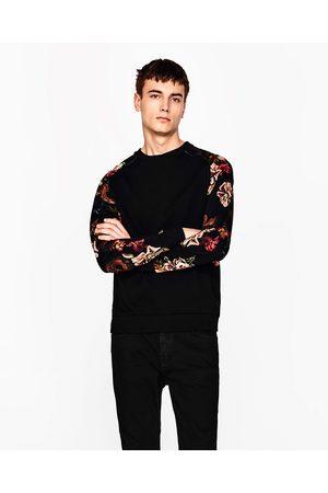 Mężczyzna Bluzy - Zara BLUZA Z RĘKAWAMI W KWIATY