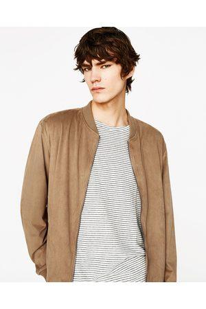 zamszu dostępny męskie bomberka Zara, porównaj ceny i kup online