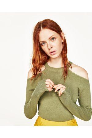 Kobieta Swetry i Pulowery - Zara SWETER Z WYCIĘCIAMI NA RAMIONACH - Dostępny w innych kolorach