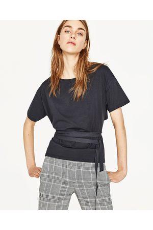 Kobieta T-shirty - Zara KOSZULKA Z TROCZKAMI - Dostępny w innych kolorach