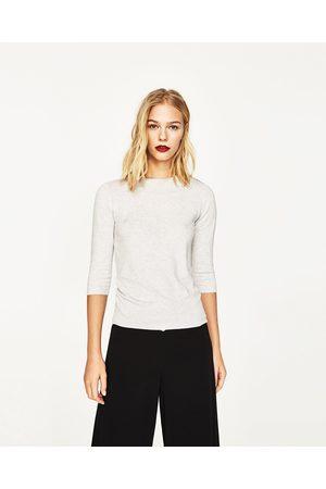 Kobieta Swetry i Pulowery - Zara SWETER ZE SZTUCZNYMI PERŁAMI Z TYŁU - Dostępny w innych kolorach