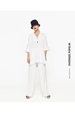 Kobieta Koszule - Zara POPLIN SHIRT DRESS