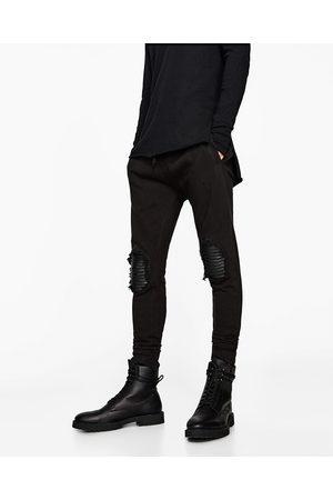 spodnie jeansowe męskie w stylu motocyklowym