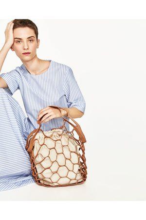 Kobieta Torby shopper - Zara TORBA TYPU SHOPPER Z DWOINY