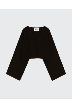 Kobieta Swetry i Pulowery - Zara KASZMIROWY SWETER O KRÓTSZYM KROJU