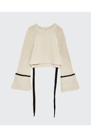 Kobieta Swetry i Pulowery - Zara KASZMIROWY SWETER Z WIĄZANIEM