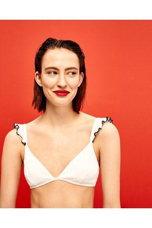 Kobieta Bikini - Zara TOP OD BIKINI Z TKANINY STRUKTURALNEJ