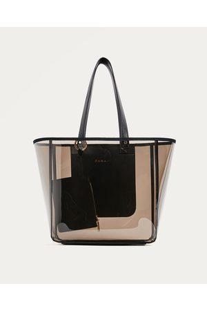 Kobieta Torby shopper - Zara PRZEZROCZYSTA TORBA TYPU SHOPPER - Dostępny w innych kolorach