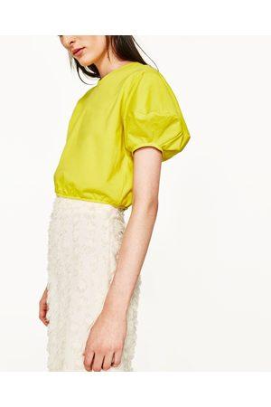 Kobieta Bluzy - Zara BLUZA O KRÓTSZYM KROJU - Dostępny w innych kolorach