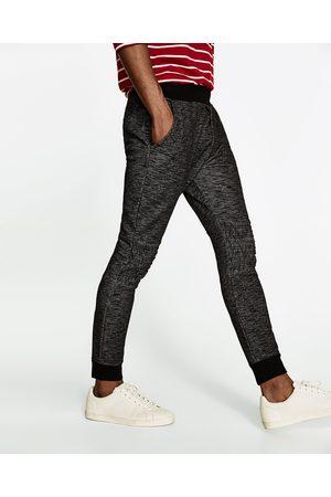Mężczyzna Spodnie dresowe - Zara SPODNIE JOGGERY W STYLU MOTOCYKLOWYM - Dostępny w innych kolorach