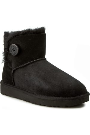 UGG Buty - W Mini Bailey Button II 1016422 W/Blk