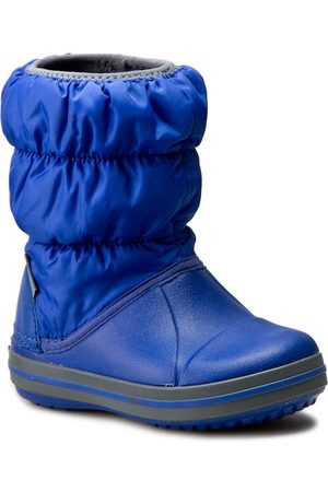 Crocs Śniegowce - Winter Puff Boot Kids 14613 Cerulean Blue/Light Grey