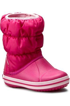 Crocs Śniegowce - Winter Puff Boot Kids 14613 Candy Pink