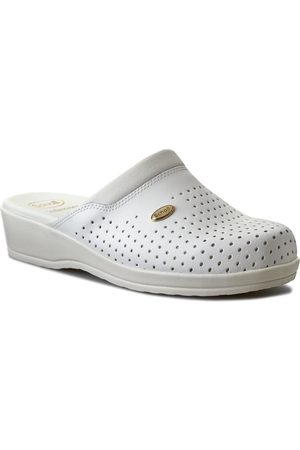Scholl Klapki - Clog Back Guard F20175 1065 410 White