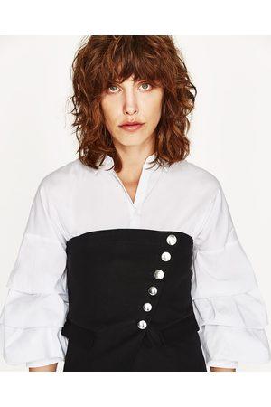 Kobieta Gorsety - Zara Top typu gorset z guzikami po boku