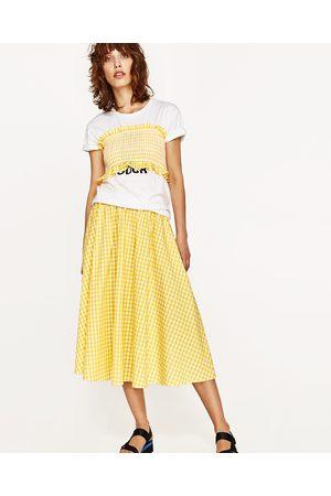 Kobieta Spódnice midi - Zara Spódnica i top w drobną kratkę
